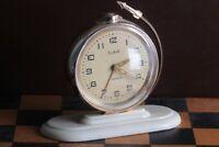 Russian Alarm clock SLAVA Rocket USSR 1stman flight space GAGARIN vintage Soviet