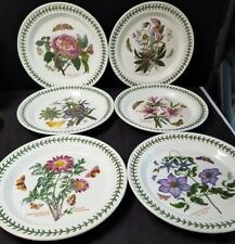 "Portmeirion Botanic Garden 6 Assorted Dinner Plates 10.5"" Passion Flower MINT!"