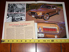 1968 FORD MUSTANG GT/CS CALIFORNIA SPECIAL - ORIGINAL 1990 ARTICLE