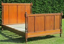"""French Solid Pitch Pine Standard Double ( 4ft 6"""" wide ) Bed with Pine Base"""
