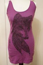 Lauren Moshi Top Shirt Tunika Longshirt Kleid Wolf Lila Hippie Boho Style Gr. M