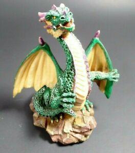 """W.U.I. Green Dragon Figure 1998 4"""" Resin"""