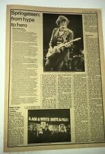 Bruce SPRINGSTEEN  LA Forum concert review 1978 2  page UK ARTICLE / clipping