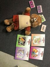 Teddy Ruxpin teddy bear 1985 with 4 tapes and 4 books