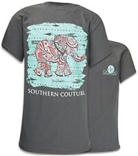 Comfort Paisley the Elephant Womens Classic Fit T-Shirt - Charcoal, 2X-Large