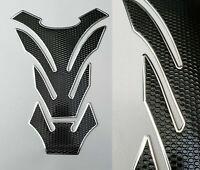 Tankpad Tankschutz Motorrad Carbon Optik Schwarz Silber universal Suzuki Honda