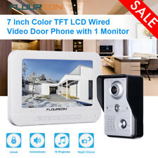 "7"" LCD Wired Door Bell Video Door Phone Intercom Home Security IR Camera Monitor"
