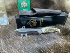 PUMA 11 8397 Hunter's  Pal II Stag Handle Knife With Leather Sheath Mint In Box