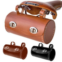 Large Hand Stitched Bicycle Saddle Bag | Colours Tan Brown Black Retro Eroica