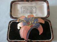 BEAUTIFUL VINTAGE COLOURFUL CLOISONNE ENAMEL FLORAL BROOCH SHAWL PIN