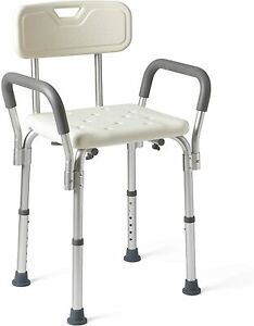 MEDLINE PADDED SHOWER CHAIR BATH SEAT SUPPORTS UP TO 350 LBS WHITE