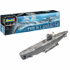 REVELL German Submarine Type IX C U67/U154 1:72 Boat Model Kit 05166