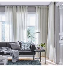 Ikea HILJA Curtains •1 pair • white 145x250cm • NEW • Light Filtering