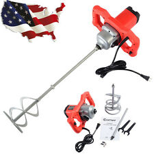 1600W Electric Mortar Mixer Dual High Low Gear 6 Speed Paint Cement Grout Hot