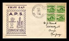 DR JIM STAMPS US APS EVENT FORT DEARBORN FIRST DAY COVER BLOCK SCOTT 730A