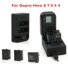 For Gopro Hero 8 7 6 5 4 Battery & Remote Control Charger Charging Dock Holder