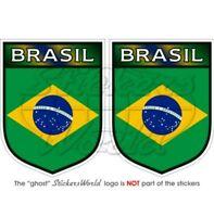 BRÉSIL Brésilien Écusson, 75mm Vinyl Autocollant x2