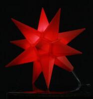 LED Mini-Stern rot 11cm klein Adventsstern Weihnachtsstern Stern Leuchtstern