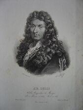 Lithographie Litho Portrait de Jean-Baptiste LULLY  Giovanni Battista Lulli