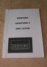 Denford Easiturn 3 CNC Lathe Manual