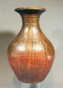 Rare Early JB Cole North Carolina Chome Red Vase