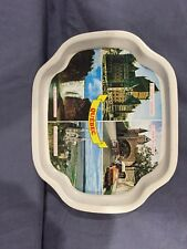 Souvenir Tray Showing Four Scenes from Quebec