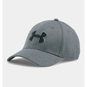 Under Armour UA 1283151 Mens Heathered Blitzing Cap BASEBALL HAT M/L GRAY 035