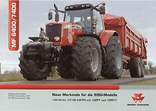 Prospekt Massey Ferguson MF 6400 7400 Sisu 6 06 2006 Trecker Traktor Schlepper