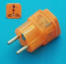 US to Germany South Korea France Travel Adapter AC Power Plug Universal + Surge