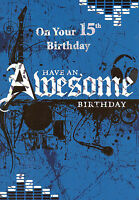 boys 15th happy birthday card age 15 today - 7 x cards to choose from!