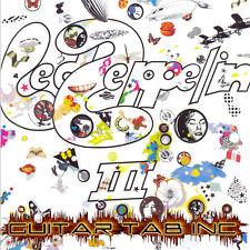 Led Zeppelin III Digital Guitar Bass Tab Lessons Disc Jimmi Page John Paul Jones