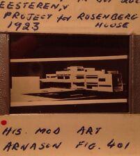 """Van Doesburg """"Project Rosenberg House"""" Dutch De Stijl Architecture 35mm Slide"""