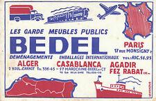 Buvard Vintage les garde meubles publics BEDEL Casablanca  Alger...