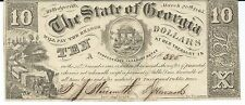 Georgia Milledgeville $10 1865 signed issued no engraver name #385