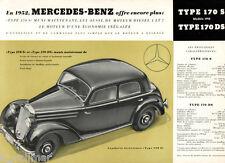 Mercedes Benz Type 170 S - DS 1952 Prospekt Französisch