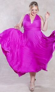 SWAK Designs Sexy Eternity Wrap Maxi Party Cruise Dress, Posh Plum, Pink or Aqua