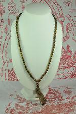 Antique Leklai LP Toh Thai Amulet 108 Buddhist Prayer Bead Beads Mala Necklace