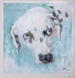 Lovely Dog Portrait Oil Painting (print) - 62 x 52cm