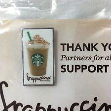 2 Starbucks Partner Frappuccino Happy Hour Pins Caramel + Strawberries & Creme