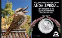 2020 Melbourne Money Expo ANDA Orchid Privy 1oz Silver Coin