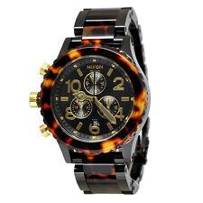 New Authentic Nixon Watch 42-20 Chrono All Black Tortoise A037-679 A037679