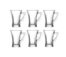 LAV Truva 100 ml Gläser mit Henkel *** 6er Set *** Tee- & Espressogläser TPL425