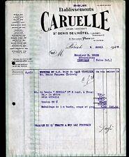 PARIS (XII°) USINE de SAINT-DENIS de L'HOTEL (45) POMPE à EAU ,MATERIEL CARUELLE
