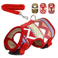 Mesh Padded Small Dog Harness Lead Adjustable Vest for Pet Puppy Chihuahua Pug