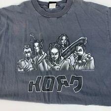 Vintage 90's 1999 KORN Giant Anime Grey Tee T-Shirt XL Extra Large