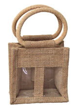 Natural Jute Bags for 2 Mini Bottle - Gift Bags for Wine, Condiments, Oils x 10