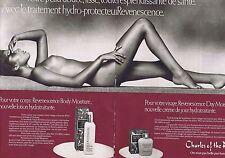 Publicité Advertising 016 1980 Charles of the Ritz seins nus (2 pages)