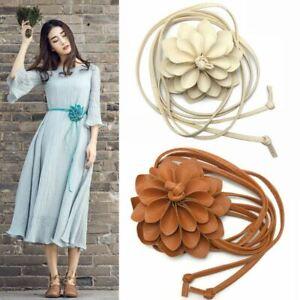 Flower belt Wedding Bridal corsage belt wrap tie belt Dress Sash