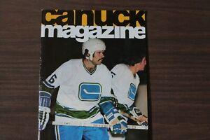 Vancouver Canucks Hockey Program -- Nov 15, 1974 vs Los Angeles