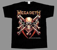 MEGADETH KILLING IS MY BUSINESS NEW BLACK SHORT/LONG SLEEVE T-SHIRT